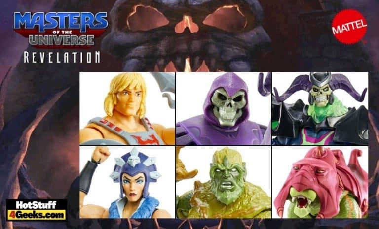 Mattel: Masters of the Universe: Revelation - Masterverse He-Man 7-inch, Skeletor 7-inch, Moss Man 7-inch, Evil-Lyn 7-inch, Skelegod 9-inch, and Battle Cat 14-inch Action Figures