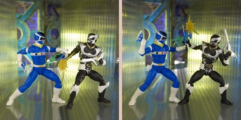 Power Rangers Lightning Collection In Space Blue Ranger Vs. Silver Psycho Ranger 6-Inch Action Figures