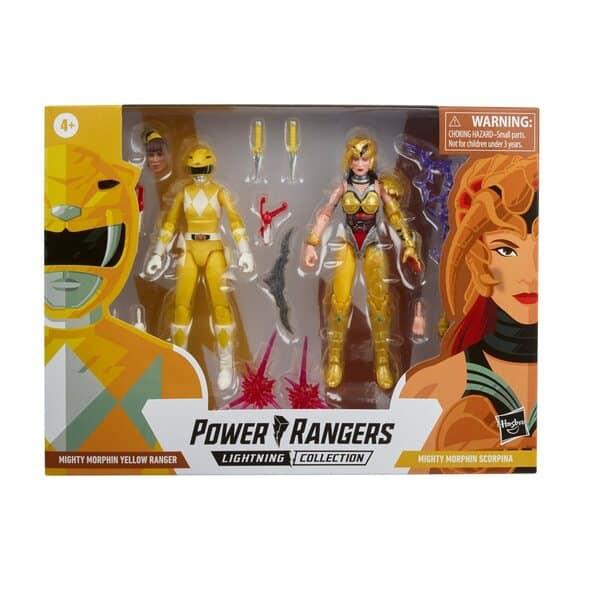 Power Rangers Lightning Collection Mighty Morphin Yellow Ranger Aisha vs. Scorpina 6-Inch Action Figures