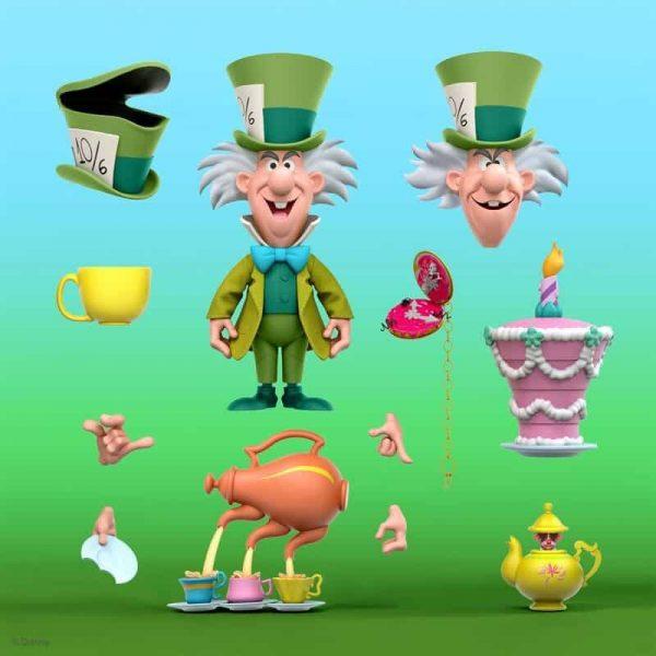 Super 7: Disney Ultimates Alice Wonderland Mad Hatter Action Figure - Wave 2