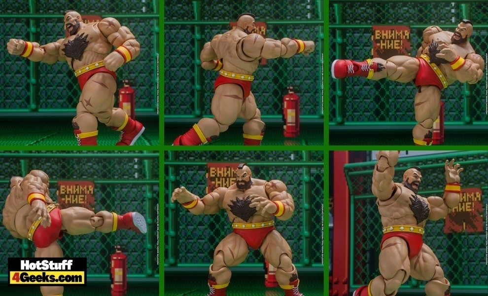 Ultimate Street Fighter II: The Final Challenger Zangief 1:12 Scale Action Figure