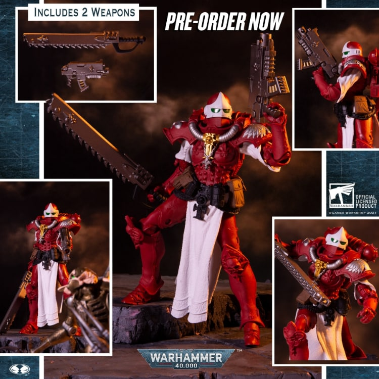 Warhammer 40,000 Wave 3 Adepta Sororitas Battle Sister Order of the Bloody Rose 7-Inch Action Figure