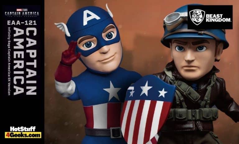 Beast Kingdom Marvel Infinity Saga Captain America EAA-121 Deluxe Version Action Figure