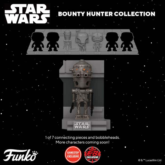 Funko Pop! Deluxe Star Wars: Bounty Hunters Collection – IG-88 Metallic Funko Pop! Vinyl Figure 3 of 7 – GameStop Exclusive