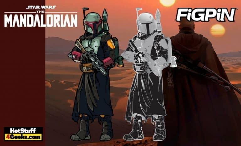 FiGPiN Star Wars - The Mandalorian Boba Fett Classic Enamel Pin #737 and #734