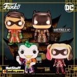 Funko POP! DC Heroes: Imperial Palace - Batman, Robin, Harley Quinn, and Joker (Metallic) Funko Pop! Vinyl Figures - LE 3000 (2021)