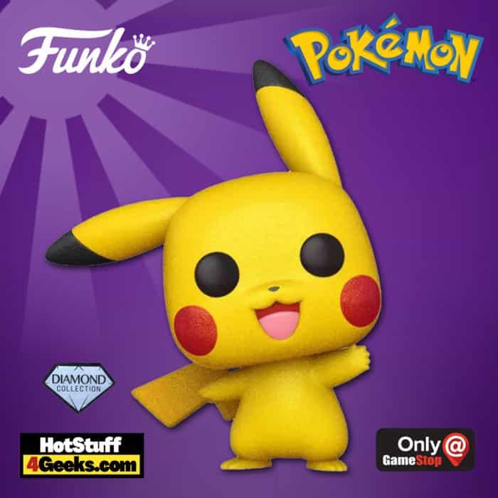 Funko POP! Games: Pokemon - Pikachu Waving Diamond Glitter Collection Funko Pop! Vinyl Figure - GameStop Exclusive
