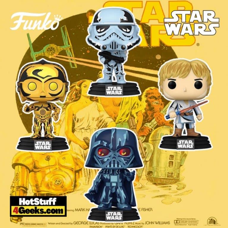Funko POP! Star Wars: Retro Series - Darth Vader, Luke Skywalker, C-3PO, and Stormtrooper 4-pack Funko Pop! Vinyl Figures - Amazon Exclusive