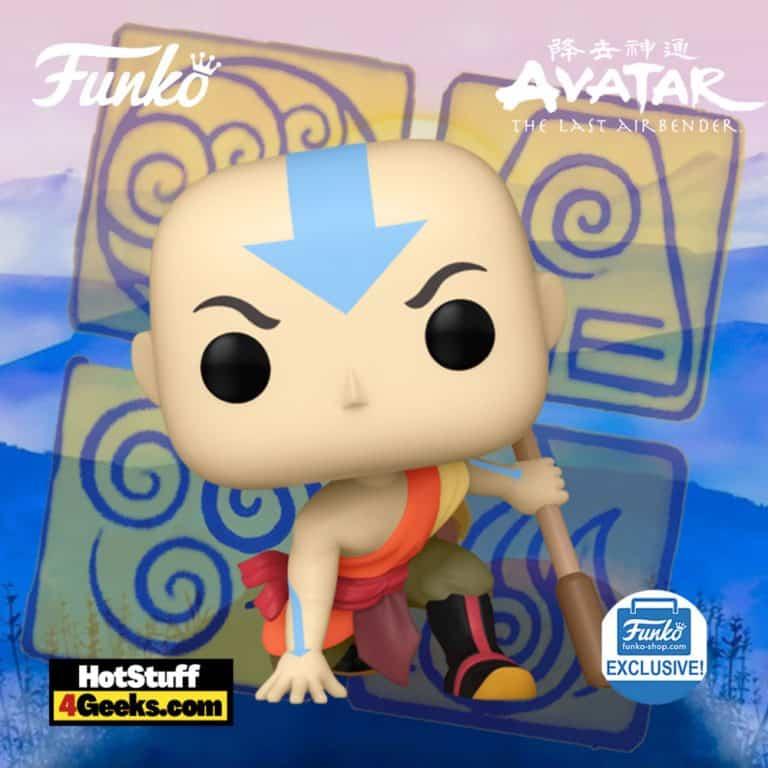 Funko Pop! Animation: Avatar: The Last Airbender - Aang Crouching Funko Pop! Vinyl Figure - Funko Shop Exclusive
