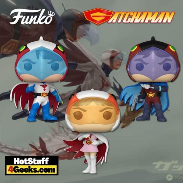 Funko Pop! Animation: Gatchaman - Ken The Eagle, Joe The Condor, and Jun The Swan Funko Pop! Vinyl Figures