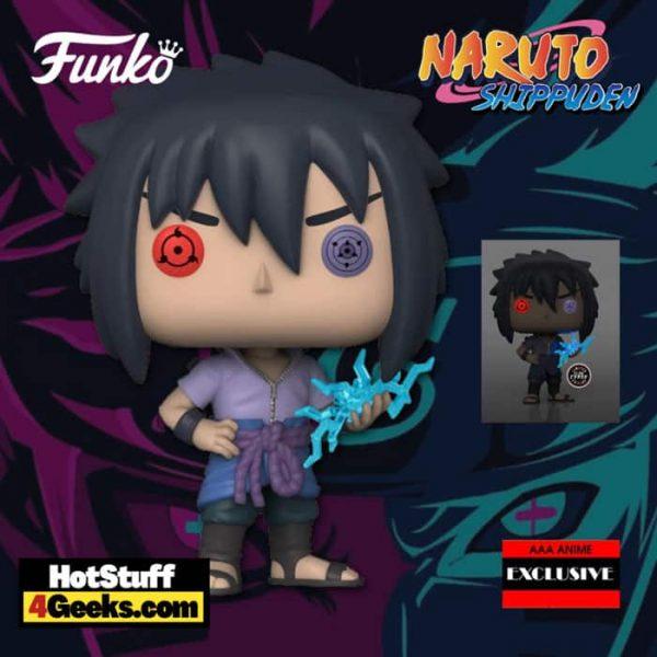 Funko Pop! Animation: Naruto: Shippuden - Sasuke Uchiha Rinnegan With Glow-In-The-Dark (GITD) Chase Funko Pop! Vinyl Figure - AAA Anime Exclusive