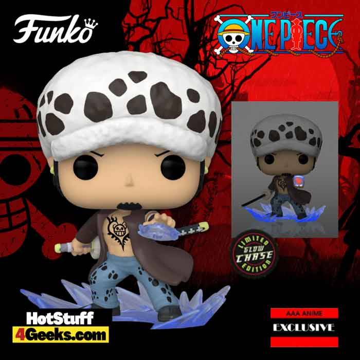 Funko Pop! Animation: One Piece - Trafalgar Law Room Attack With Glow In The Dark Chase Variant Funko Pop! Vinyl Figure - AAA Anime Exclusive