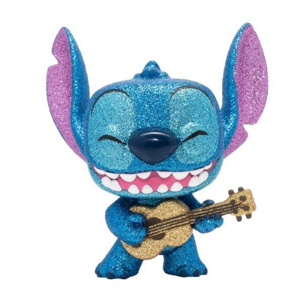 Funko Pop! Disney: Lilo & Stitch: Stitch with Ukulele Diamond Glitter Funko Pop! Vinyl Figure - Entertainment Earth Exclusive