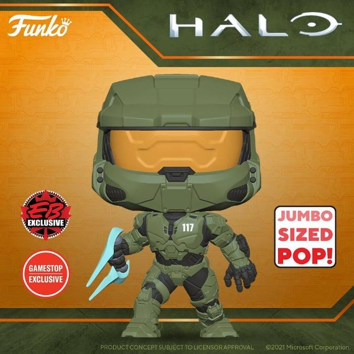 Funko Pop! Halo Infinite - Master Chief 10-inch Super Sized Funko Pop! Vinyl Figure - GameStop Exclusive
