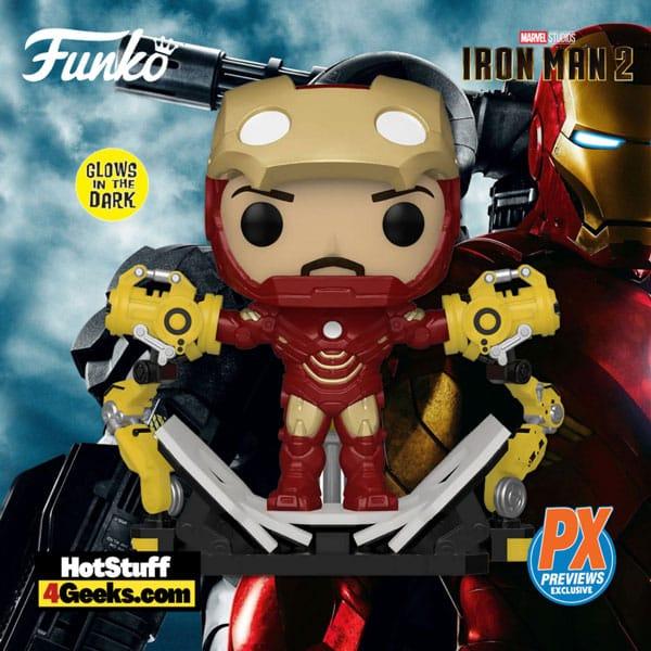 Funko Pop! Marvel: Iron Man II - Mark IV With Gantry Glow-The-Dark (GITD) Funko Pop! Vinyl Figure - PX Preview Exclusive