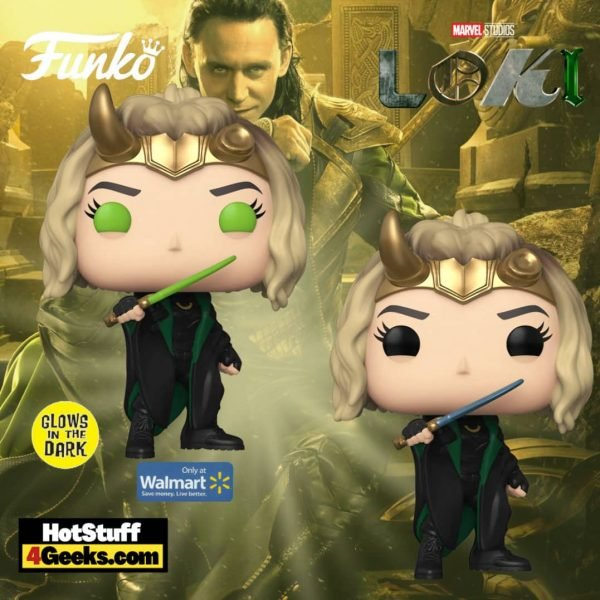 Funko Pop! Marvel Studios: Loki - Sylvie (Common and Glow-In-The-Dark Walmart Exclusive) Funko Pop! Vinyl Figures