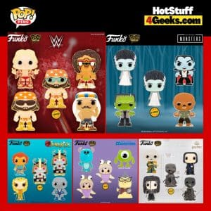 Funko Pop! Pins - WWE, Universal Monsters, ThunderCats, Harry Potter and Disney and Pixar's - Monsters