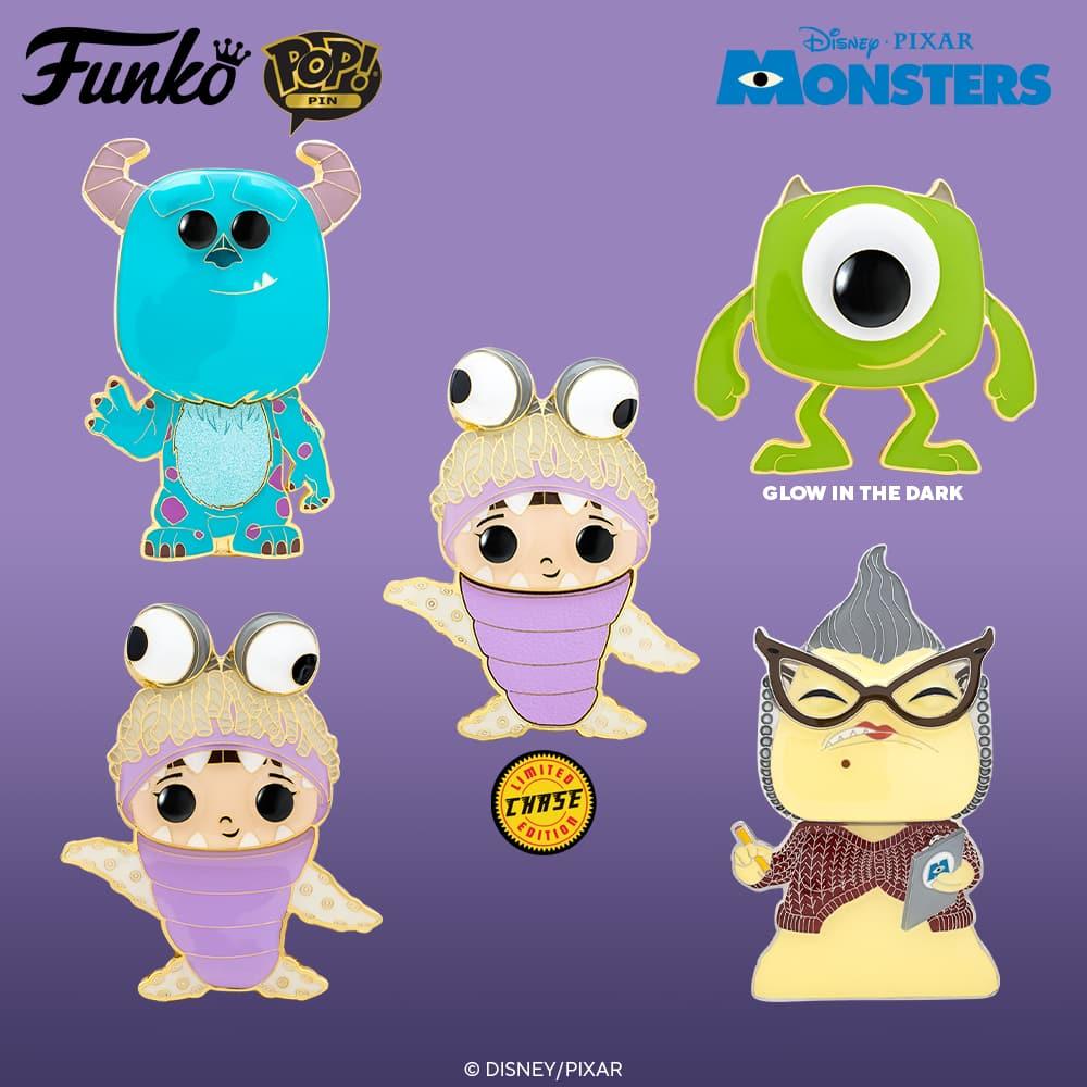 Funko Pop! Pins - Disney and Pixar's - Monsters