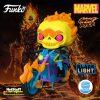 Funko Pop! Rides Super Deluxe: Marvel - Ghost Rider (Black Light) Funko Pop! Vinyl Figure - Funko Shop Exclusive