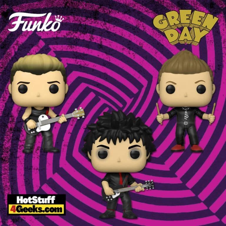 Funko Pop! Rocks: Green Day - Tre Cool, Billie Joe Armstrong, and Mike Dirnt Funko Pop! Vinyl Figure - Popapalooza 2021