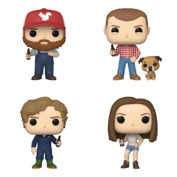 Funko Pop! Television: Letterkenny - Katy, Daryl, Squirrely Dan, and Wayne with Gus Funko Pop! Vinyl Figures