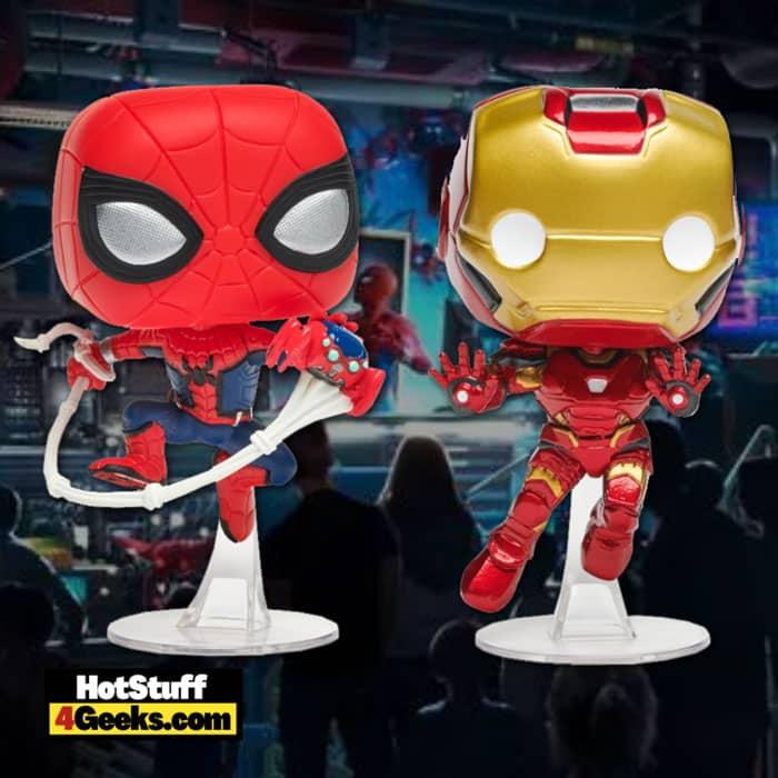 Funko Pop! W.E.B. (Worldwide Engineering Brigade): Spider-Man and Iron Man Funko Pop! Vinyl Figures