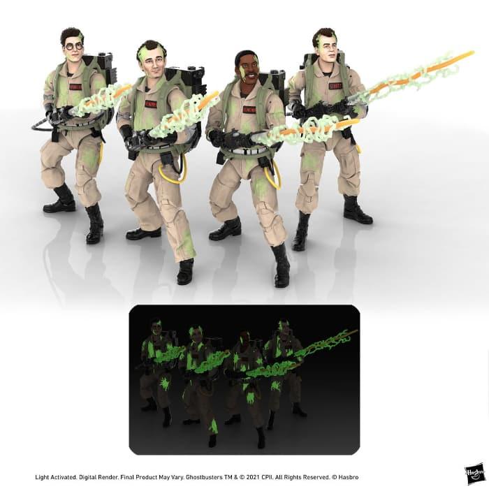 Hasbro: Ghostbusters Plasma Series Glow-in-the-Dark 6-Inch Action Figures Wave 1 - includes Ray Stantz, Winston Zeddemore, Egon Spengler, and Peter Venkman