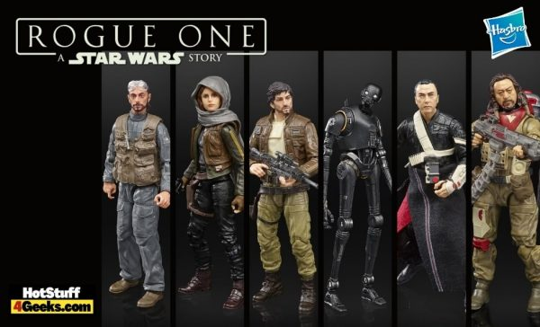 Hasbro: Star Wars Black Series Rogue One Action Figures - Includes Bodhi Rook, Jyn Erso, Cassian Andor, K-2SO, Chirrut Imwe, and Baze Malbus 6-Inch Action Figures 2021