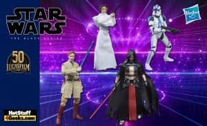 Hasbro: Star Wars The Black Series Archive Figures - Wave 5 - includes Darth Revan, Princess Leia Organa, Obi-Wan Kenobi, and 501st Legion Clone Trooper