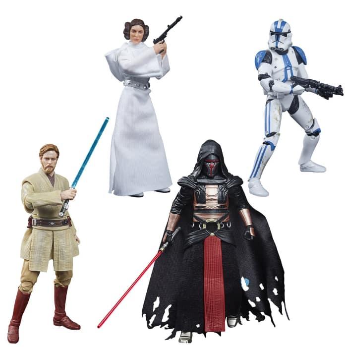 Hasbro: Star Wars The Black Series Archive Figures - Wave 3 - includes Darth Revan, Princess Leia Organa, Obi-Wan Kenobi, and 501st Legion Clone Trooper