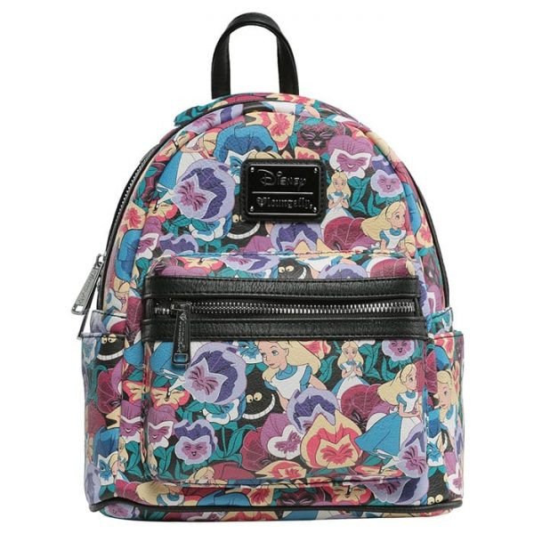 Loungefly Alice in Wonderland Flowers Mini Backpack - 707 Street Exclusive with a 6-year Anniversary Event Ticket