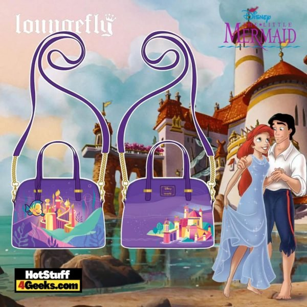 Loungefly Disney Ariel Castle Collection Crossbody - pre-order July 2021 arrives August 2021