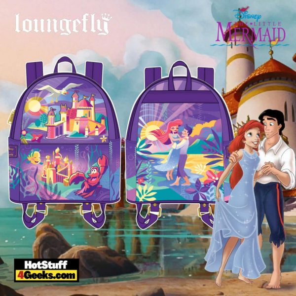 Loungefly Disney Ariel Castle Collection Mini Backpack- pre-order July 2021 arrives August 2021