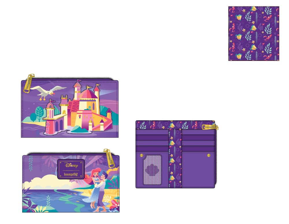 Loungefly Disney Ariel Castle Collection Wallet - pre-order July 2021 arrives August 2021