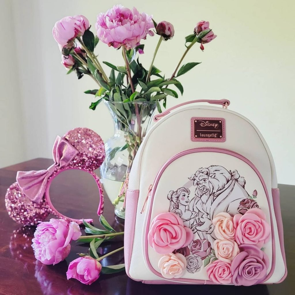 Loungefly Disney Beauty and the Beast Floral Portrait Mini Backpack - BoxLunch Exclusive