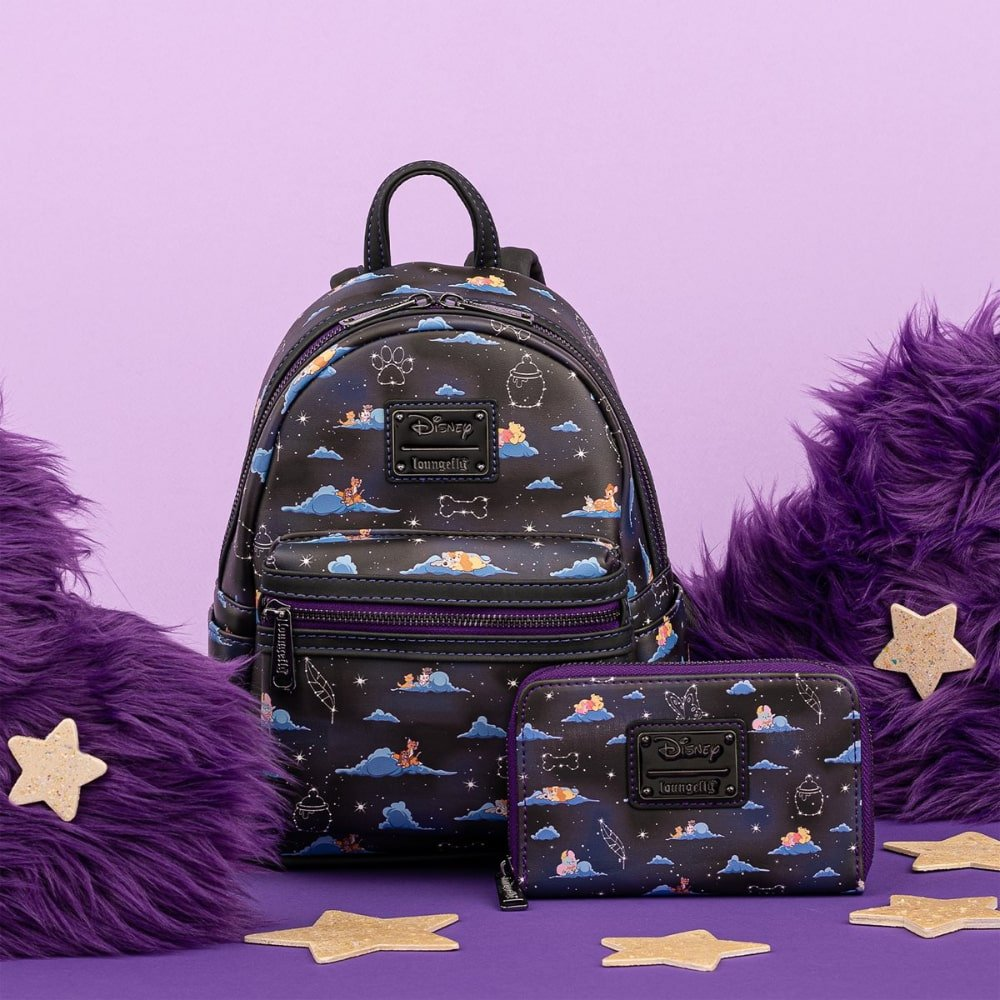 Loungefly Disney Classic Clouds AOP Mini Backpack and Wallet