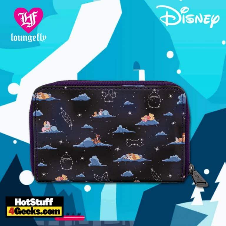 Loungefly Disney Classic Clouds AOP Zip Around Wallet