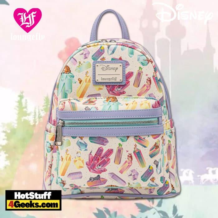 Loungefly Disney Crystal Sidekicks AOP Mini Backpack