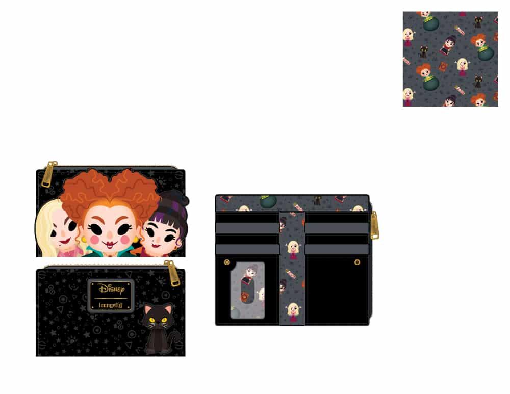 Loungefly Disney Hocus Pocus Sanderson Sisters Flap Wallet - pre-order July 2021 arrives August 2021