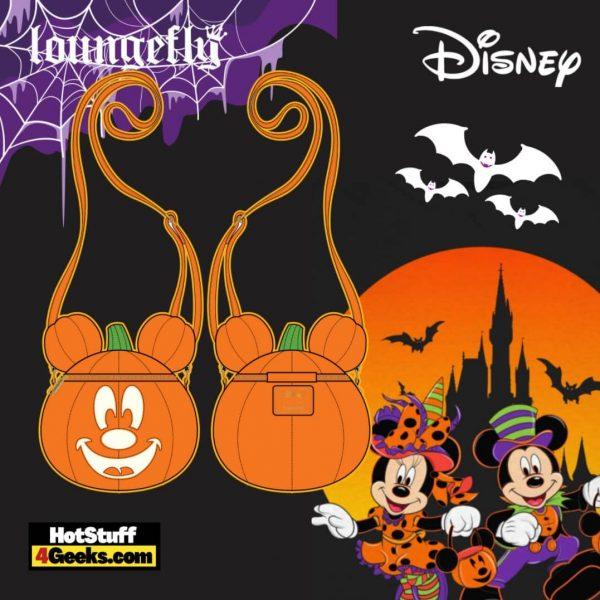 Loungefly Disney Mickey O-Lantern Crossbody - pre-order July 2021 arrives August 2021