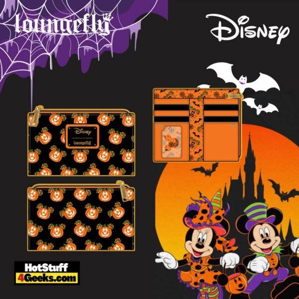Loungefly Disney Mickey O-Lantern Flap Wallet - pre-order July 2021 arrives August 2021