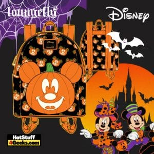 Loungefly Disney Mickey O-Lantern Mini Backpack - pre-order July 2021 arrives August 2021