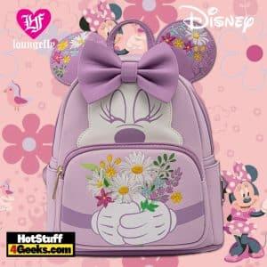 Loungefly Disney Minnie Holding Flowers Mini Backpack