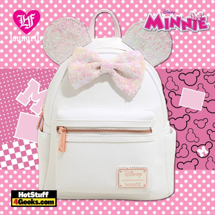 Loungefly Disney Minnie Mouse Iridescent Sequin Mini Backpack - BoxLunch Exclusive