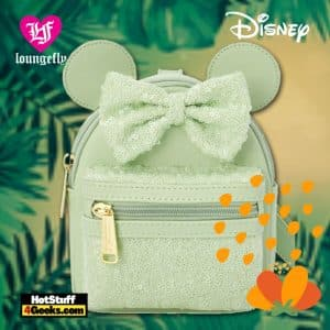 Loungefly Disney Minnie Mouse Sequined Wristlet – Mint