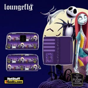 Loungefly Disney (Nightmare Before Christmas) NBC Halloween Line Zip Around Wallet - pre-order July 2021 arrives August 2021