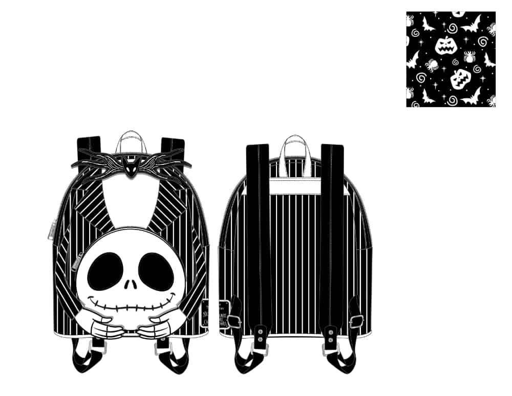 Loungefly Disney (Nightmare Before Christmas) NBC Headless Jack Skellington Mini Backpack - pre-order July 2021 arrives August 2021