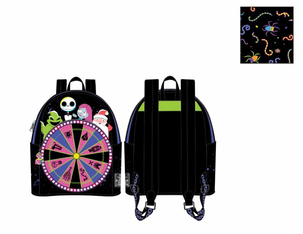 Loungefly Disney (Nightmare Before Christmas) NBC Oogie Boogie Wheel Mini Backpack - pre-order July 2021 arrives August 2021