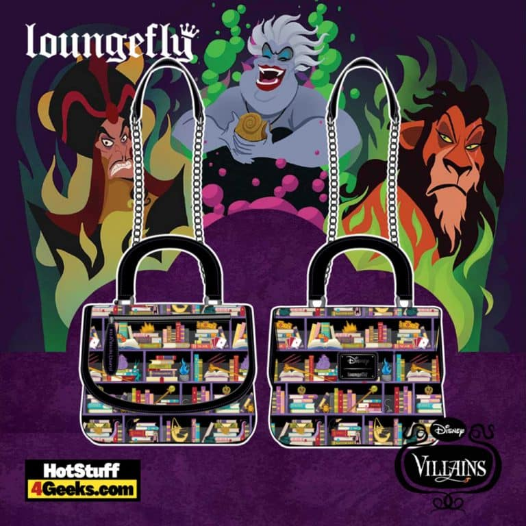 Loungefly Disney Villains Books Crossbody - pre-order July 2021 arrives August 2021