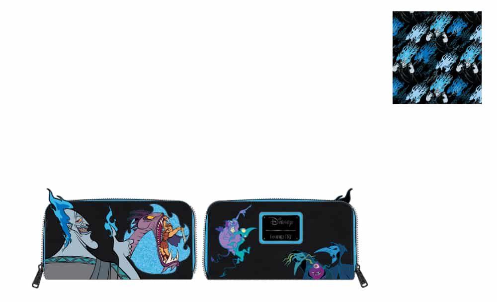 Loungefly Disney Villains Scene Hades Zip Around Wallet - pre-order July 2021 arrives August 2021